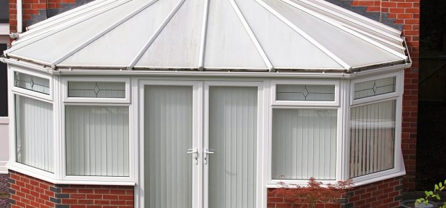 glass roofed conservatory